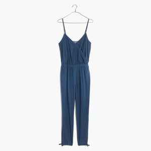 Madewell Chambray Faux Wrap Jumpsuit